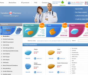 "Classical ""pharmacy"" site selling fake Viagra, Cializ and other pills"